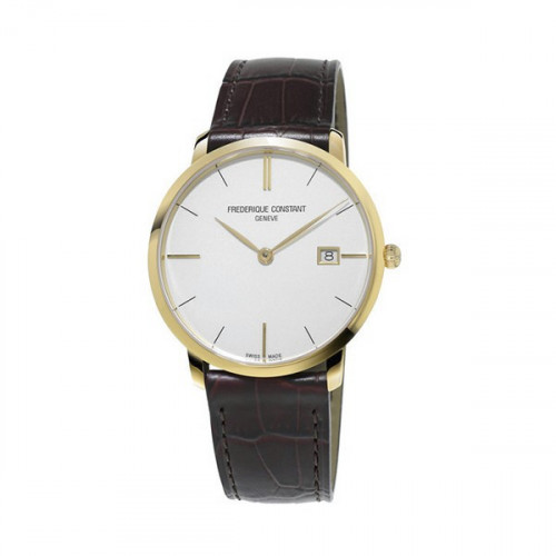 FREDERIQUE CONSTANT SLIMLINE DATE GOLD COLORED WATCH - FC220V5S5