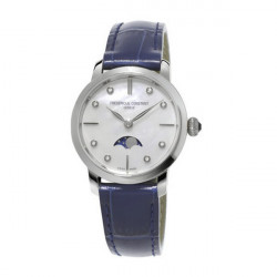 FREDERIQUE CONSTANT SLIMLINE MOON PHASE BLUE WATCH  - FC206MPWD1S6