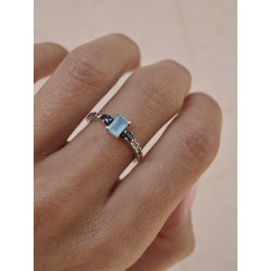 CHALCEDONY TOP SILVER RING - AN6678PC