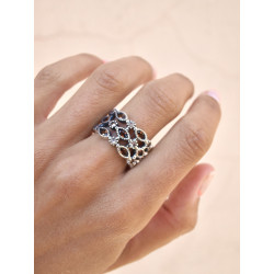 BROWN TOP SILVER RING - AN6015P3M