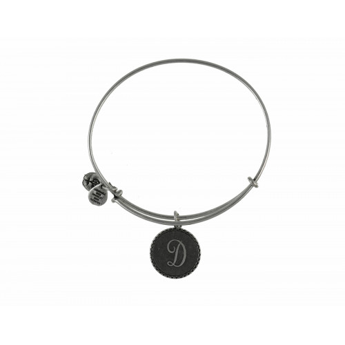 PULSERA ALEX AND ANI LETRA D ACABADO PLATA - A08EB91DS